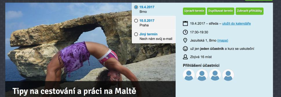 Kurz Brno: Tipy na cestování a práci na Maltě