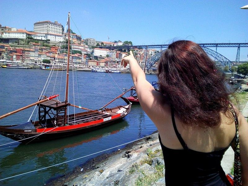 Tak na tom mostě jsem taky stála