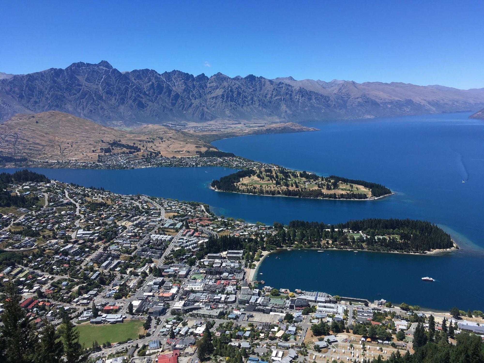 Nový Zéland: Pohled na Queenstown