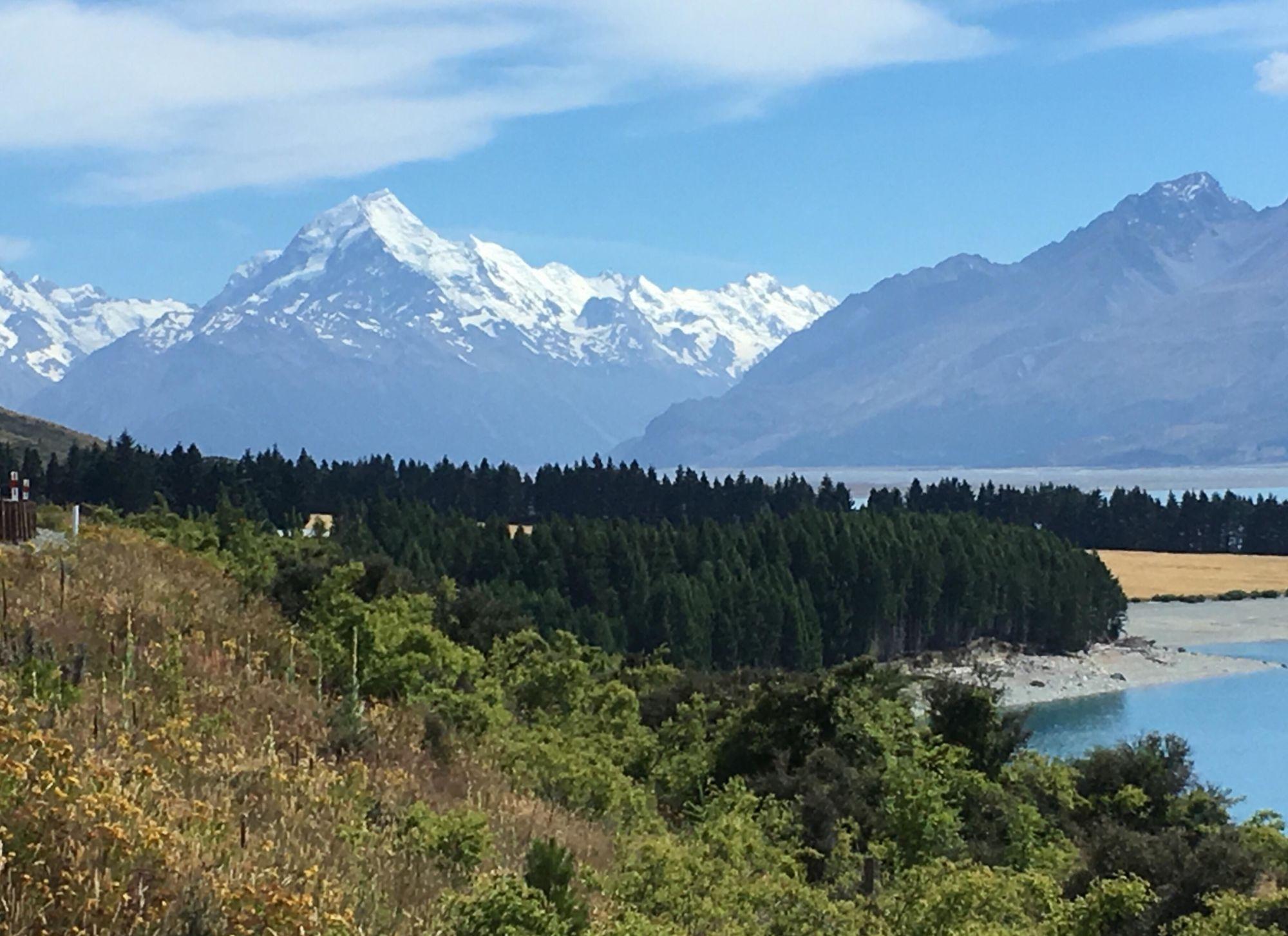 Nový Zéland: Pohled na nejvyšší horu Mount Cook
