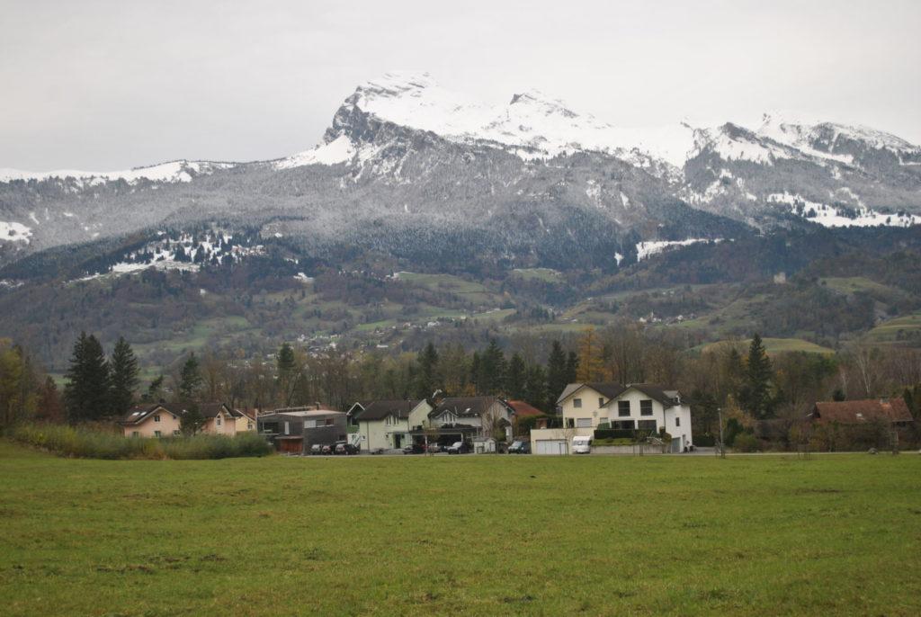 Průvodce Lichtenštejnskem - výhled z domu