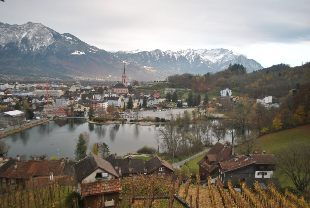 Průvodce Lichtenštejnskem - švýcarské město Buchs