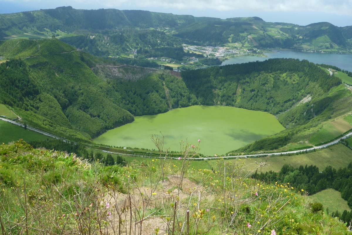 A další jezírko na dně vulkánu